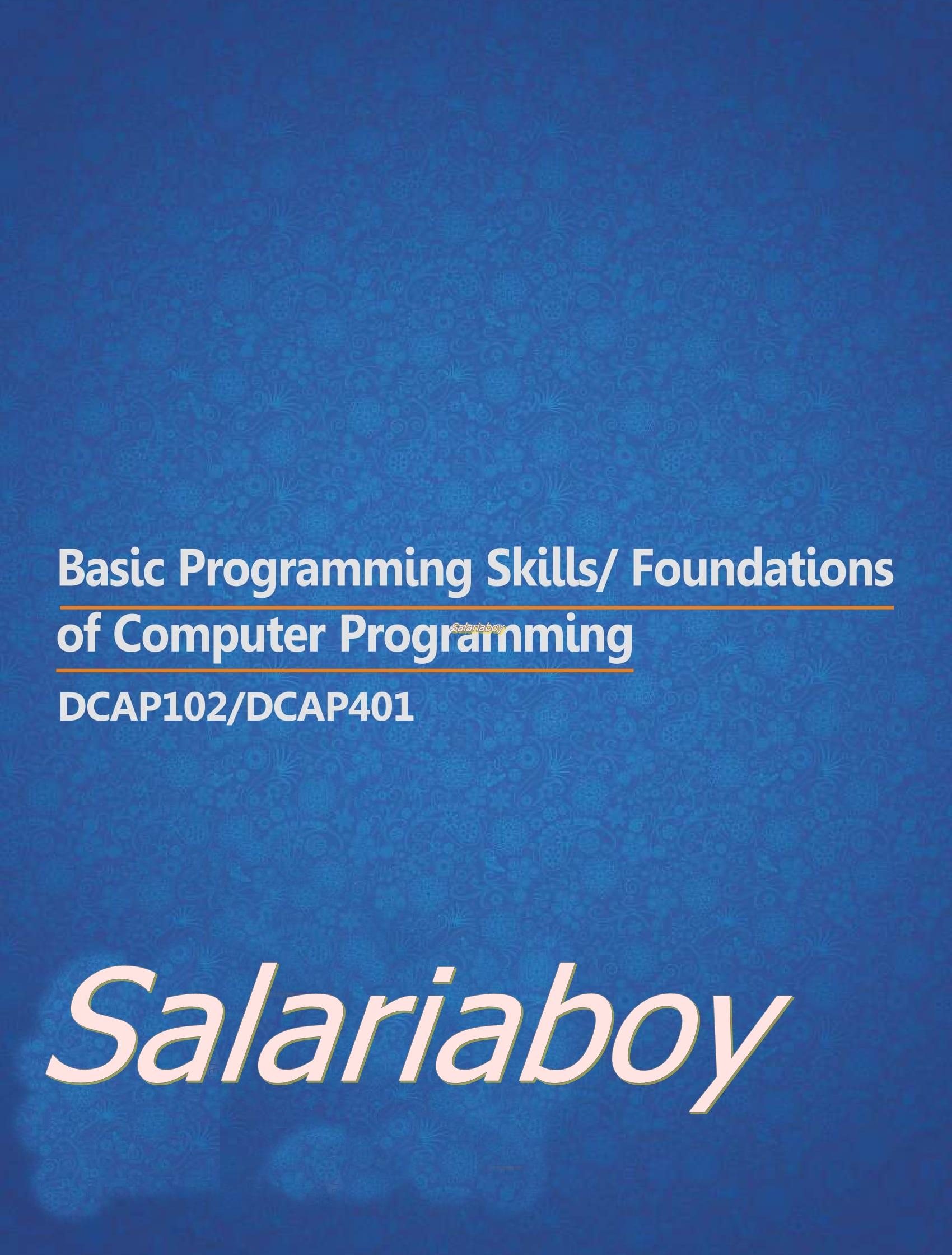 Chapter 1 (BASIC PROGRAMMING SKILLS) | Ask Anku