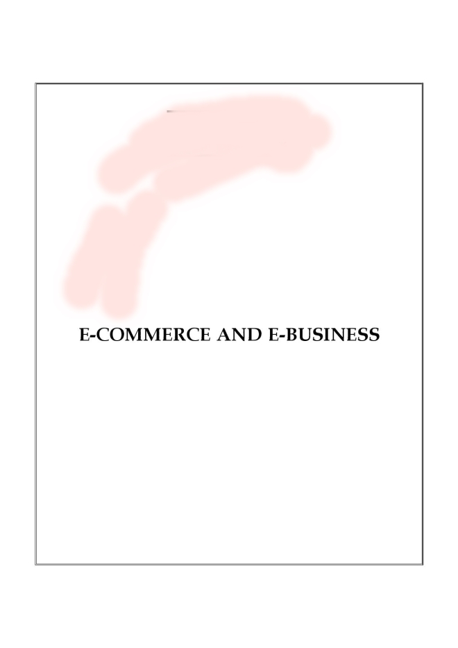 E-COMMERCE AND E-BUSINESS PART 1